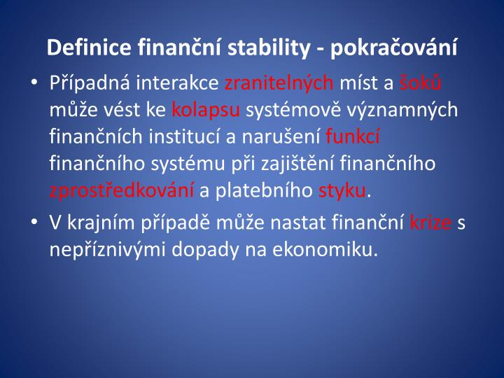 Definice finanční