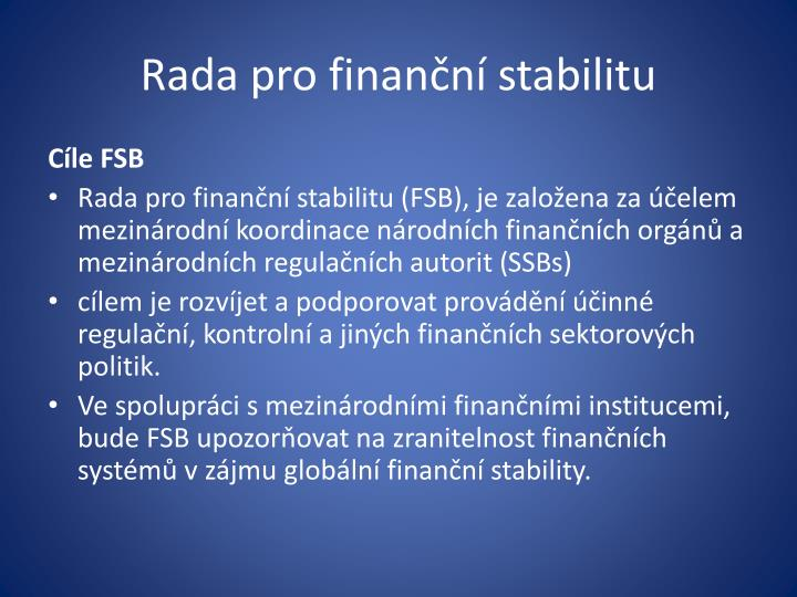 Rada pro finanční stabilitu