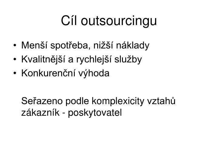 Cíl outsourcingu