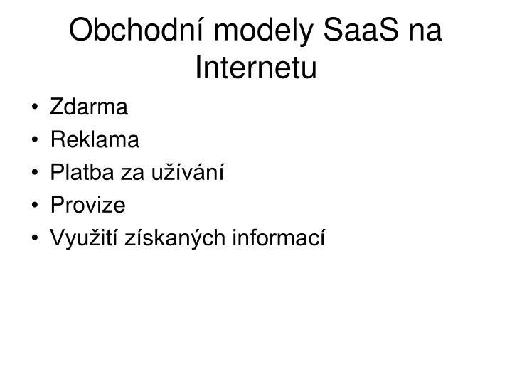 Obchodní modely SaaS na Internetu