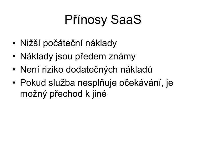 Přínosy SaaS