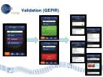 validation gepir