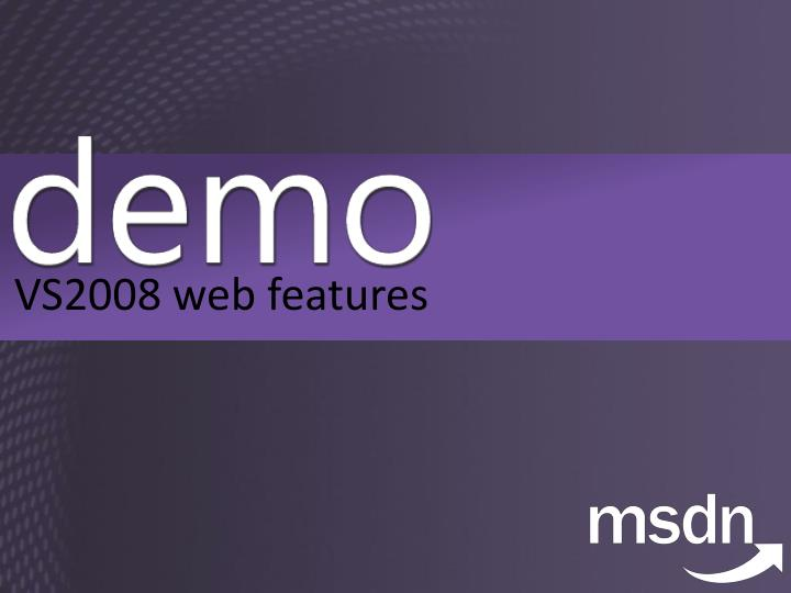 VS2008 web features