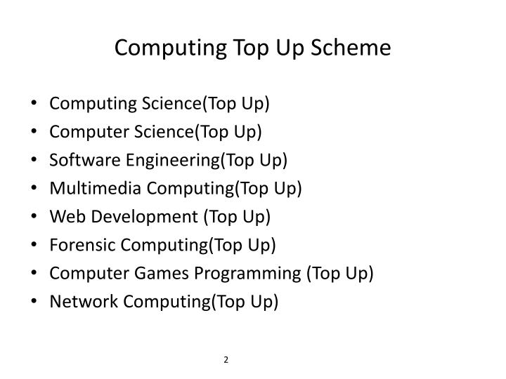 Computing Top Up