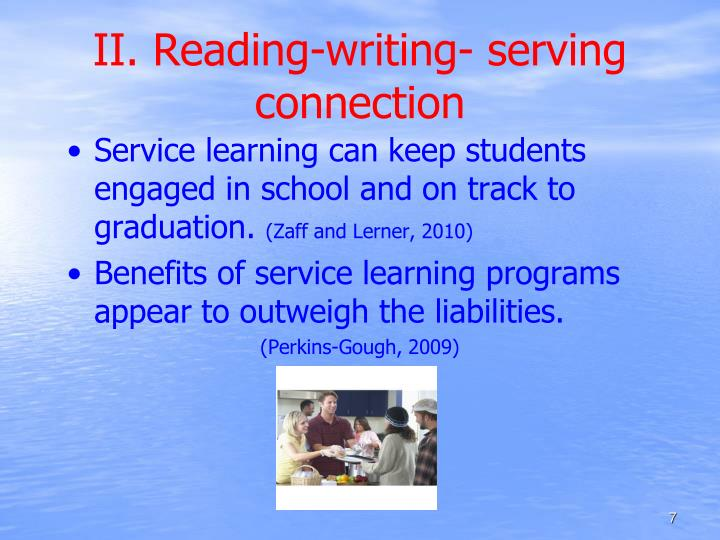 II. Reading-writing- serving connection