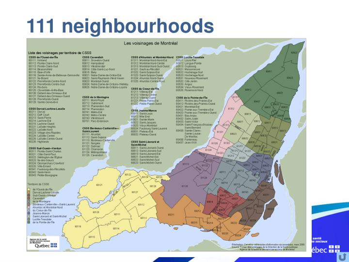 111 neighbourhoods