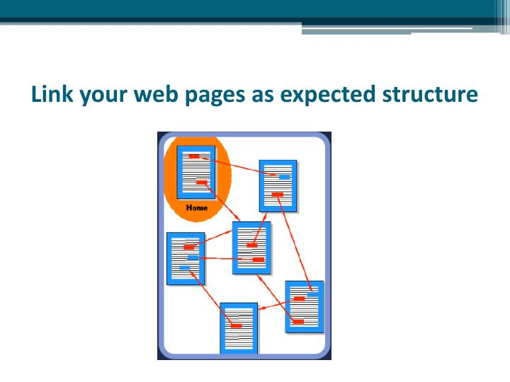 Link your web pages as expected structure
