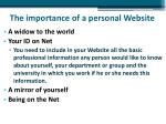 the importance of a personal website2