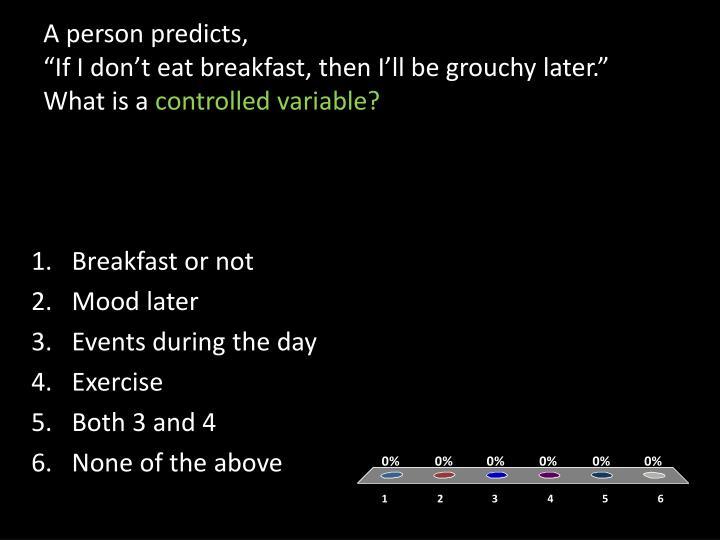 A person predicts,