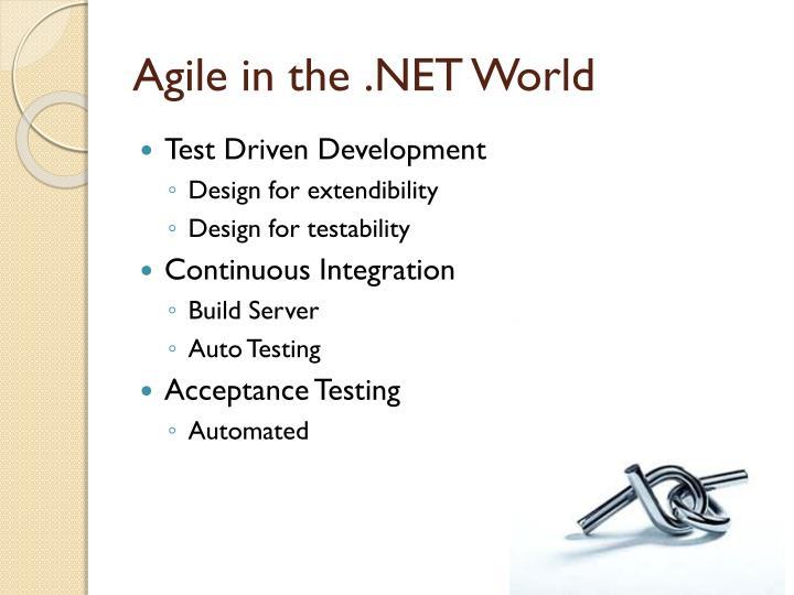 Agile in the .NET World