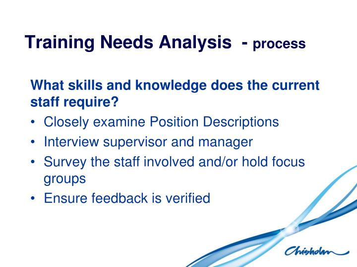 process analysis skills Learning needs analysis framework  skills, knowledge and behaviours in order to meet the organisational demands  the process the process involves.