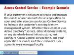 access control service example scenario