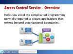 access control service overview