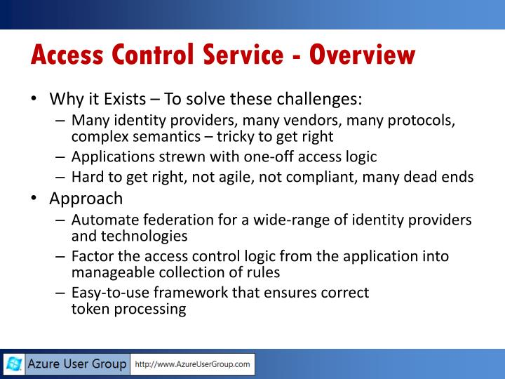 Access Control Service - Overview