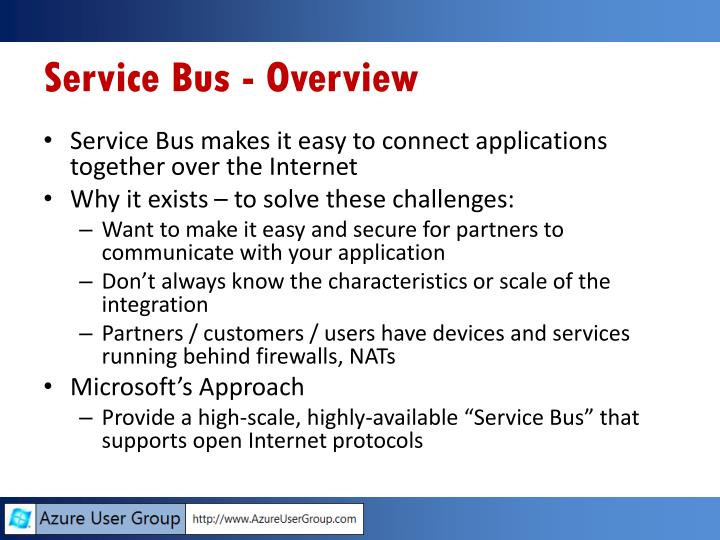 Service Bus - Overview