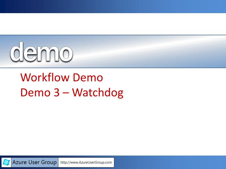 Workflow Demo