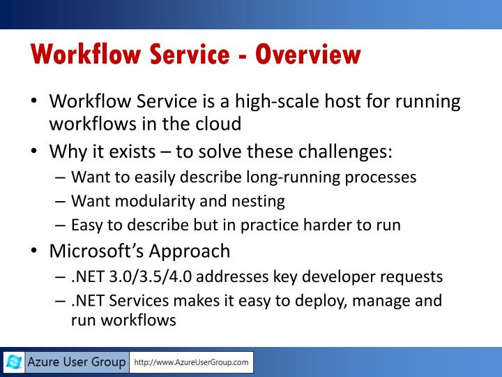Workflow Service - Overview