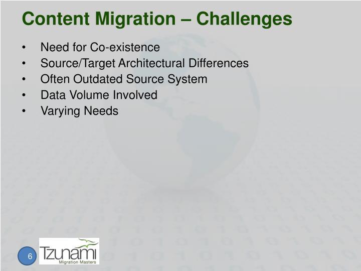 Content Migration – Challenges