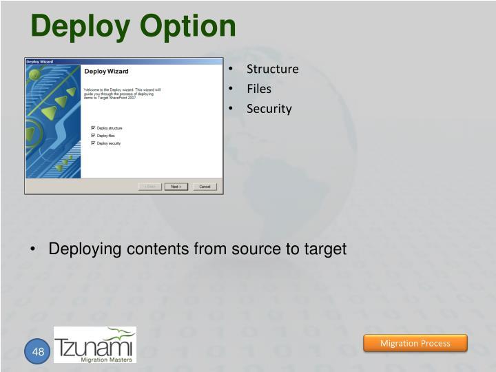 Deploy Option
