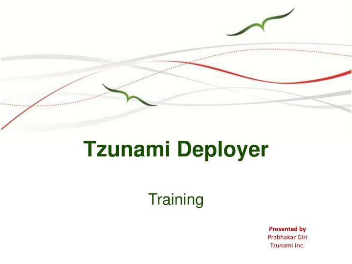 Tzunami Deployer