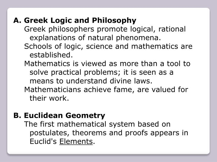 Greek Logic and Philosophy