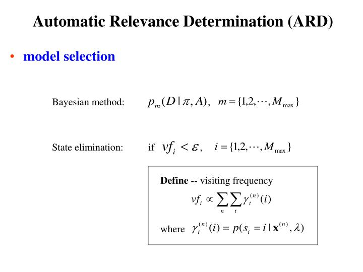 Automatic Relevance Determination (ARD)