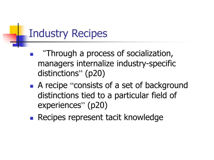 Industry Recipes