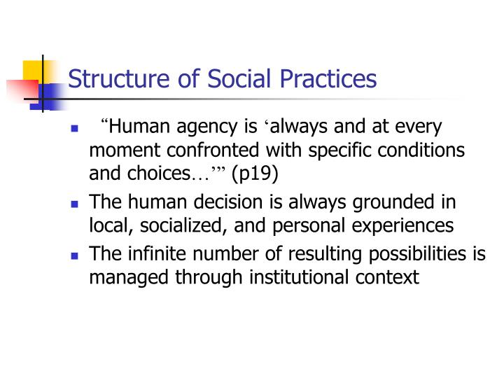 Structure of Social Practices