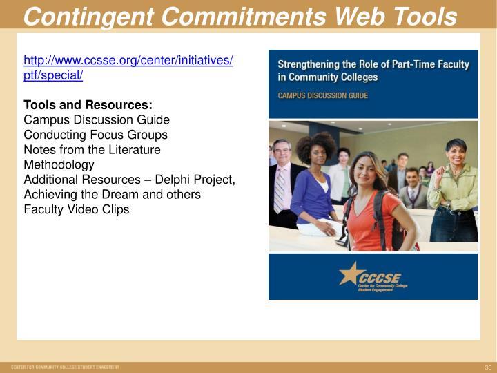 Contingent Commitments Web Tools