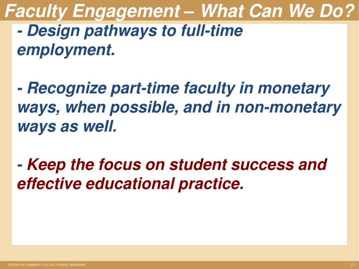 - Design pathways to full-time employment.