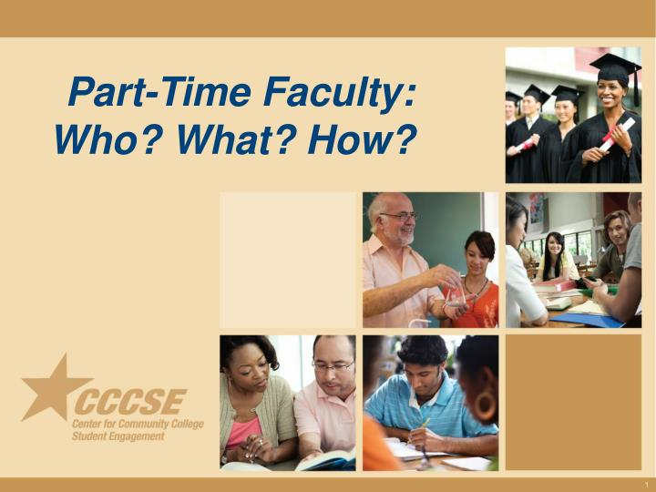 Part time faculty who what how