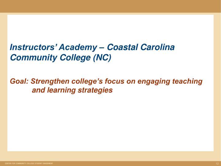 Instructors' Academy – Coastal Carolina Community College (NC)