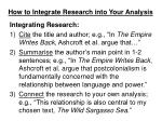 how to integrate research into your analysis2