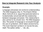 how to integrate research into your analysis4