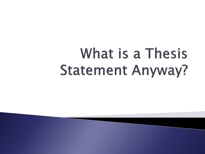 What Should Be Included In A Thesis Statement
