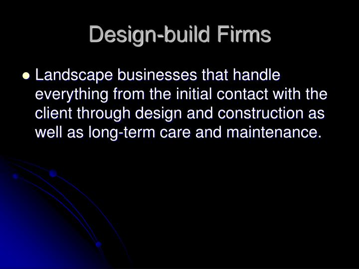 Design-build Firms