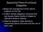 sequential plans functional diagrams
