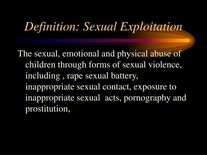 Definition: Sexual Exploitation