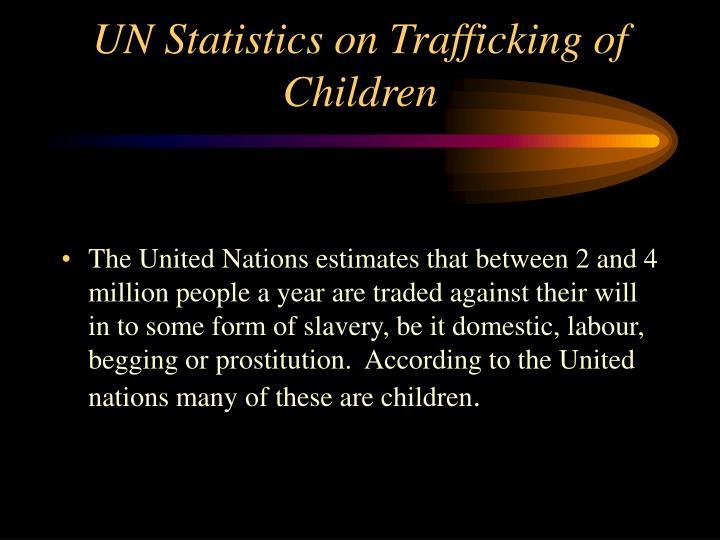 UN Statistics on Trafficking of Children