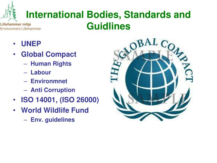 International Bodies, Standards and Guidlines