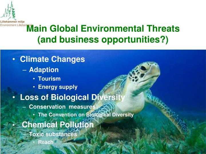 Main Global Environmental Threats