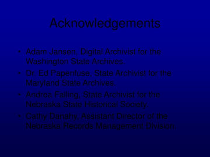 Adam Jansen, Digital Archivist for the Washington State Archives.