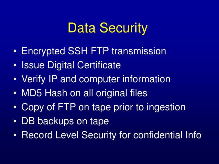 Encrypted SSH FTP transmission