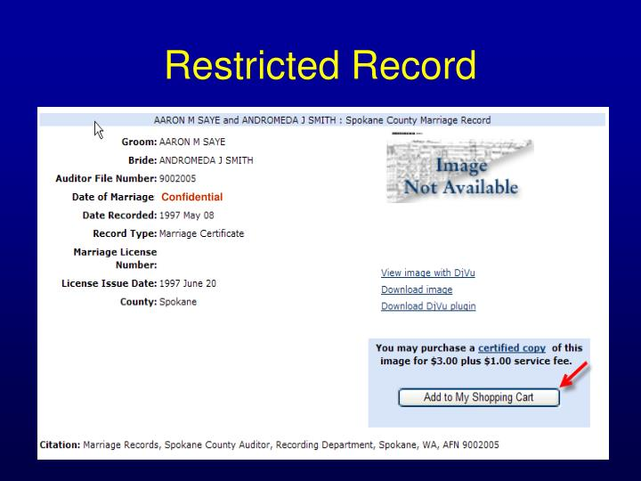 Restricted Record