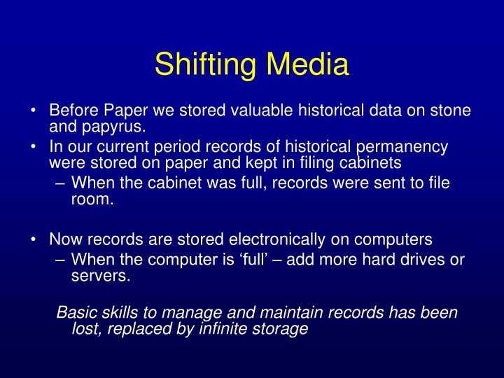 Before Paper we stored valuable historical data on stone and papyrus.