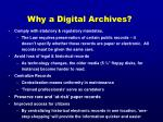 why a digital archives