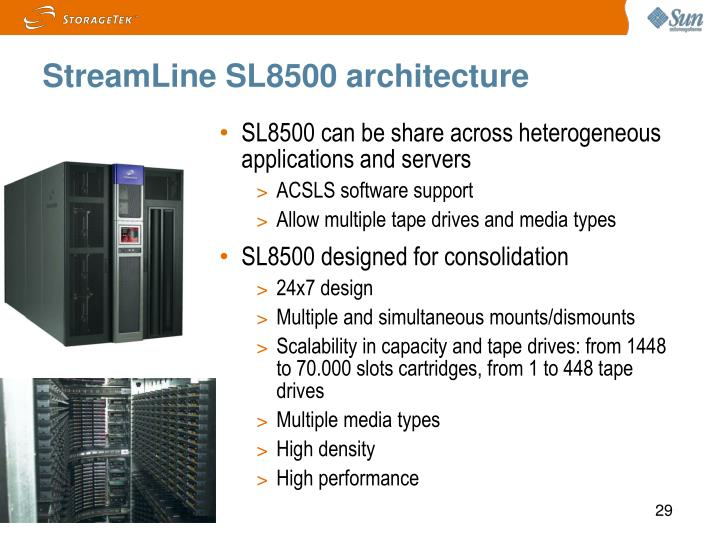 StreamLine SL8500 architecture