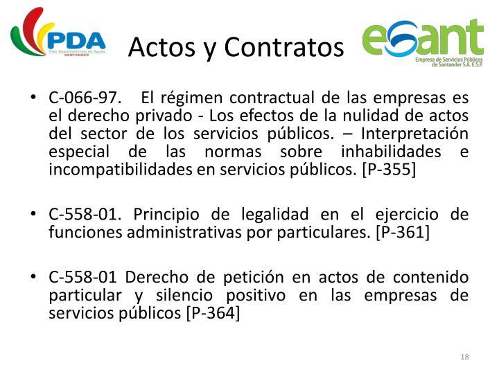 Actos y Contratos