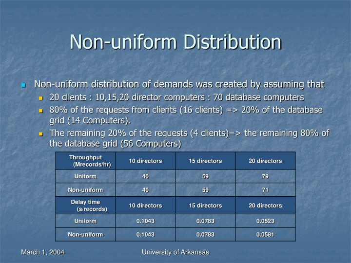 Non-uniform Distribution