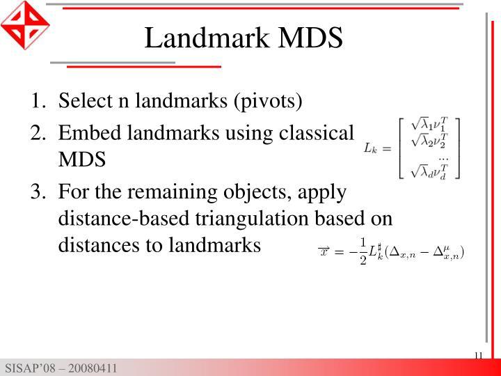 Landmark MDS